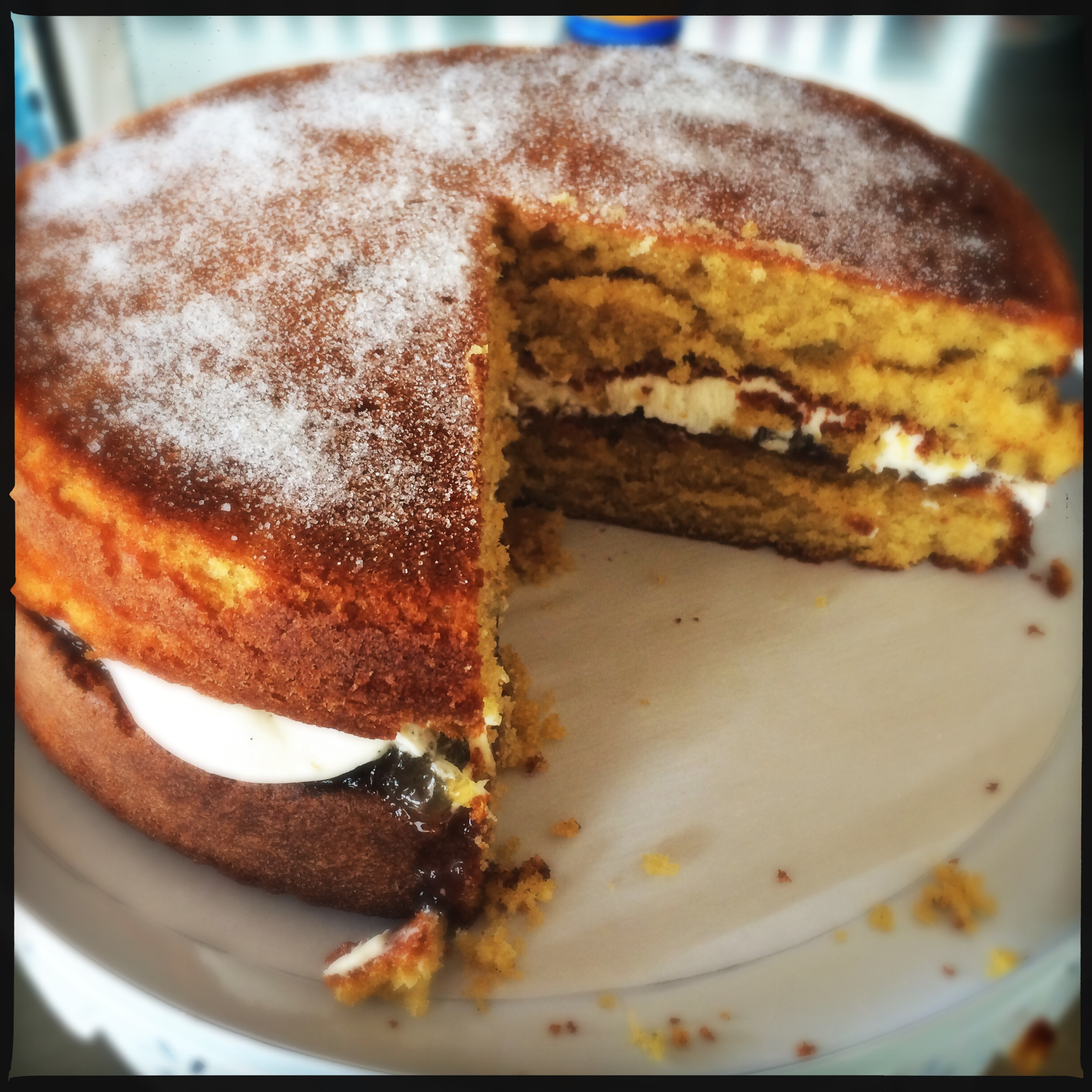 brown sugar victoria sponge better than a bought one