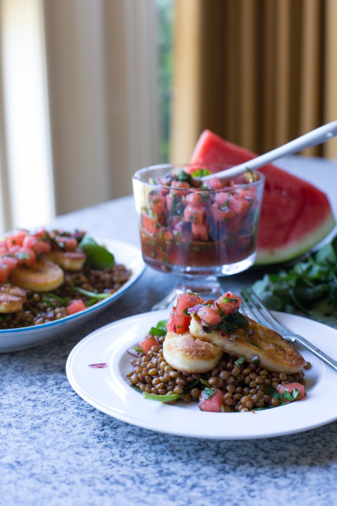 halloumi and watermelon salad-3