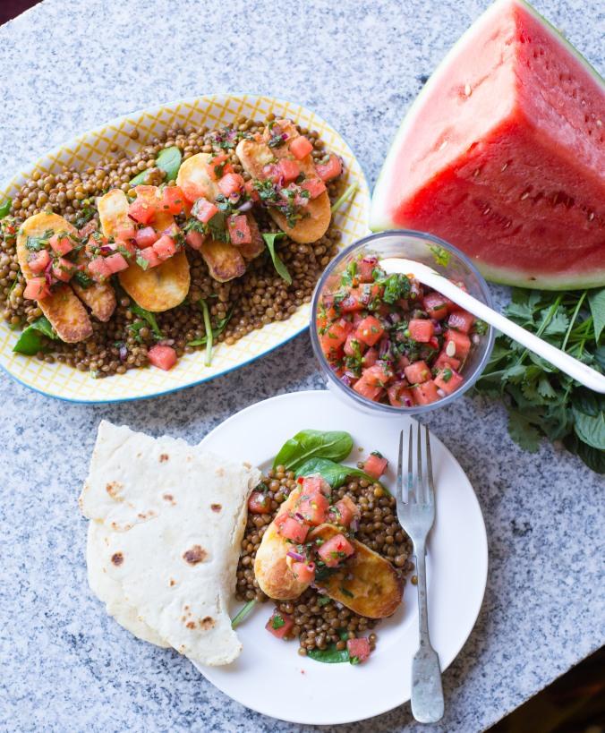 halloumi and watermelon salad-8