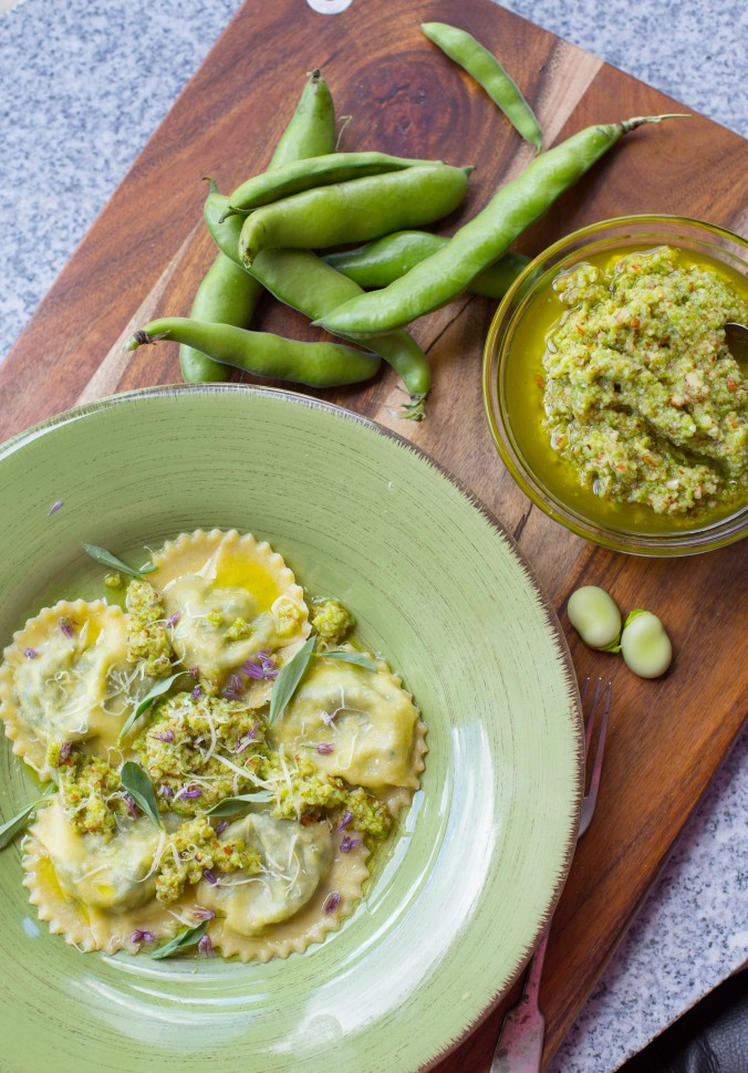 broad bean ravioli-8