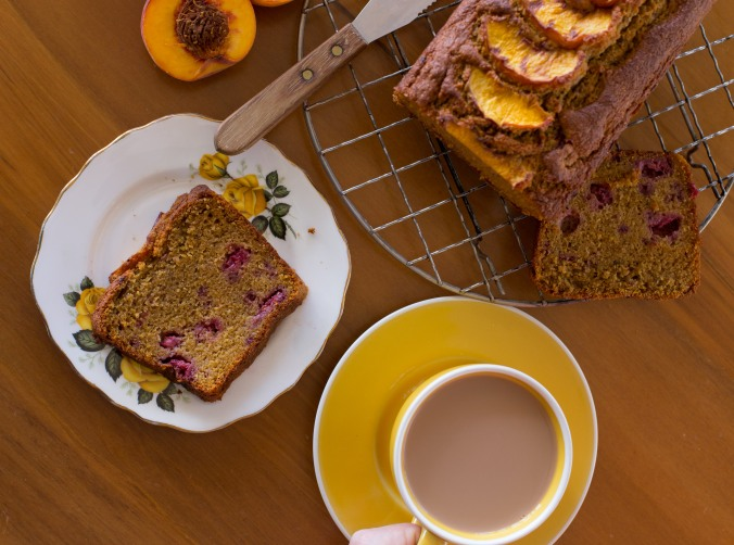 peach and raspberry loaf-11