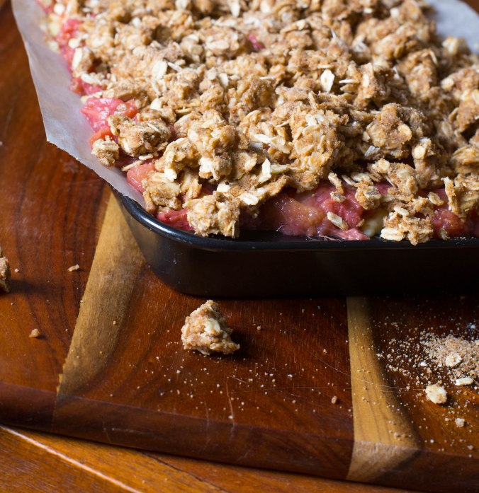 rhubarb and apple crumble slice-5